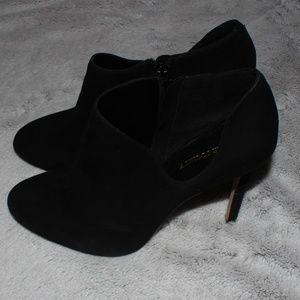 Sole Society Suede Black Heels
